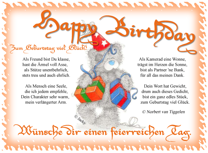 Geburtstagskarte zum